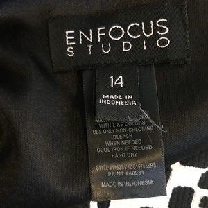 Enfocus Studio Dresses - Enfocus Studio tailored print flared dress